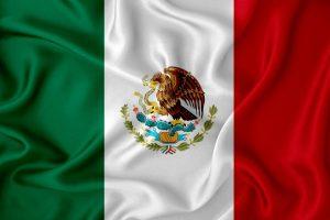 Bandera mexico en movimiento